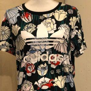 Flower adidas shirt